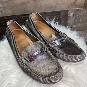 Coach Nola Loafers Metallic Moccasins Driving Shoe